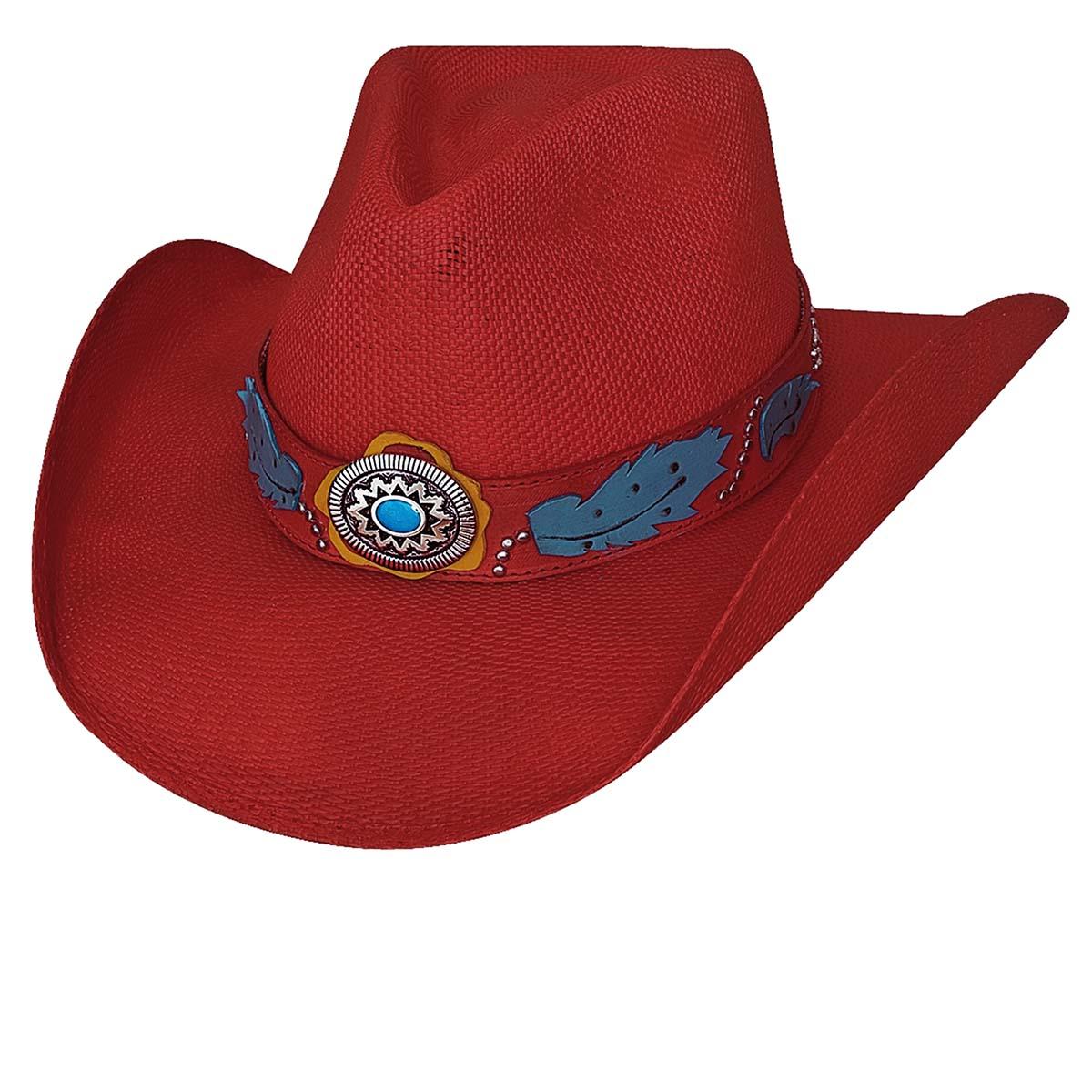 画像1: ウエスタン ストロー ハット(レッド)/Western Straw Hat(Red) (1)