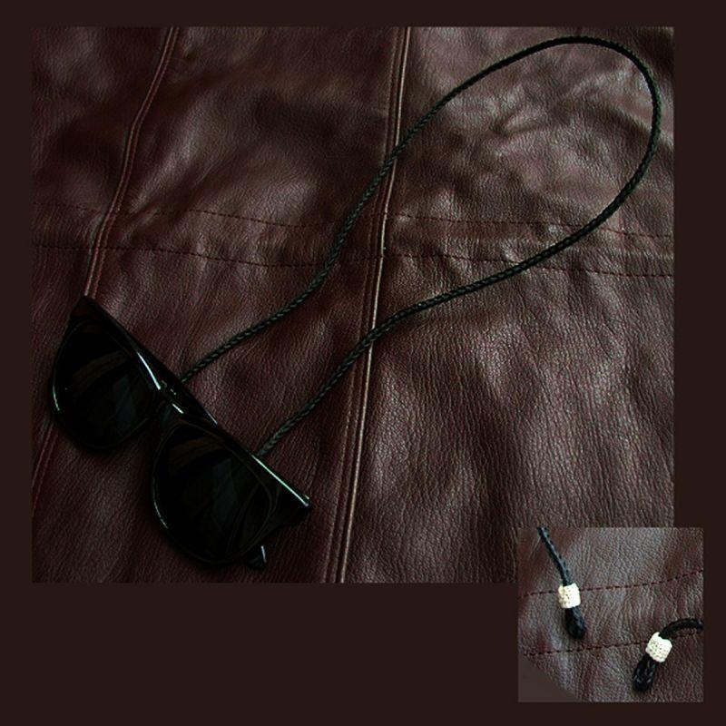 画像1: メガネ用ストラップ ホースヘアー(ブラック)/Eyeglass Holder Horse Hair(Black)