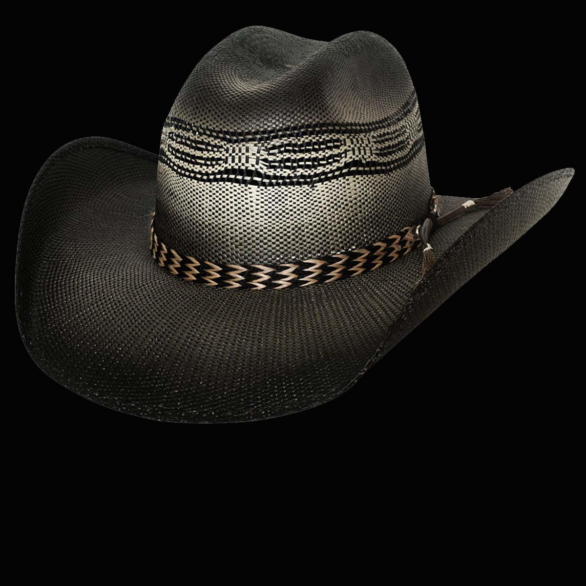 画像1: ブルハイド ウエスタン ストローハット ライジングサンド(ブラック)/Bullhide Western Straw Hat Raising Sand(Black)