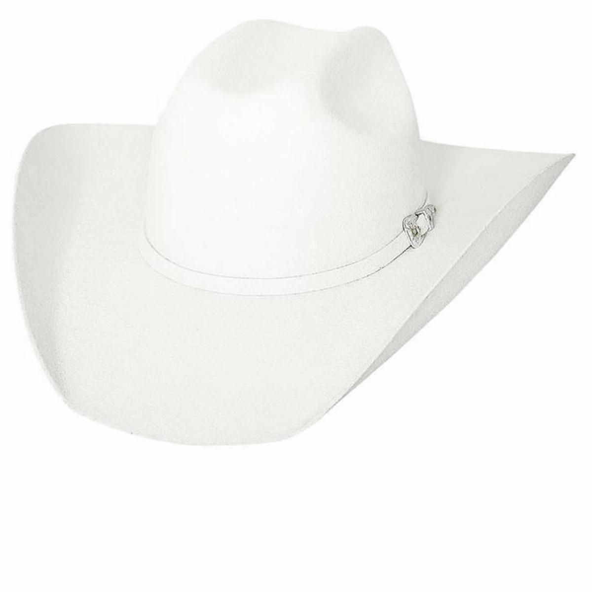 画像1: ブルハイド 8X ファーブレンド カウボーイハット(ホワイト)/Bullhide Cowboy Hat