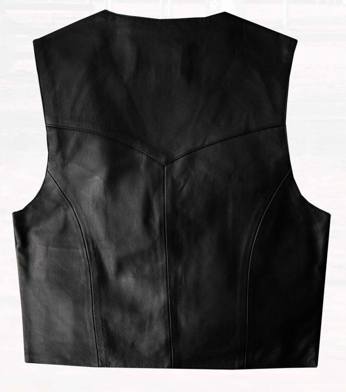 画像3: スカリー スナップフロント ラムレザー ベスト(ブラック)/Scully Lamb Leather Vest(Black)