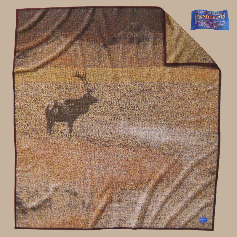画像1: ペンドルトン キーピングウォッチ(エルク)ブランケット/Pendleton Keeping Watch Blanket(Elk) (1)