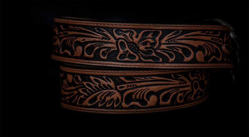 画像3: トニーラマ インディアンチーフ ウエスタン レザーベルト(ブラウン)/Tony Lama Indian Chieftain Western Leather Belt(Brown)