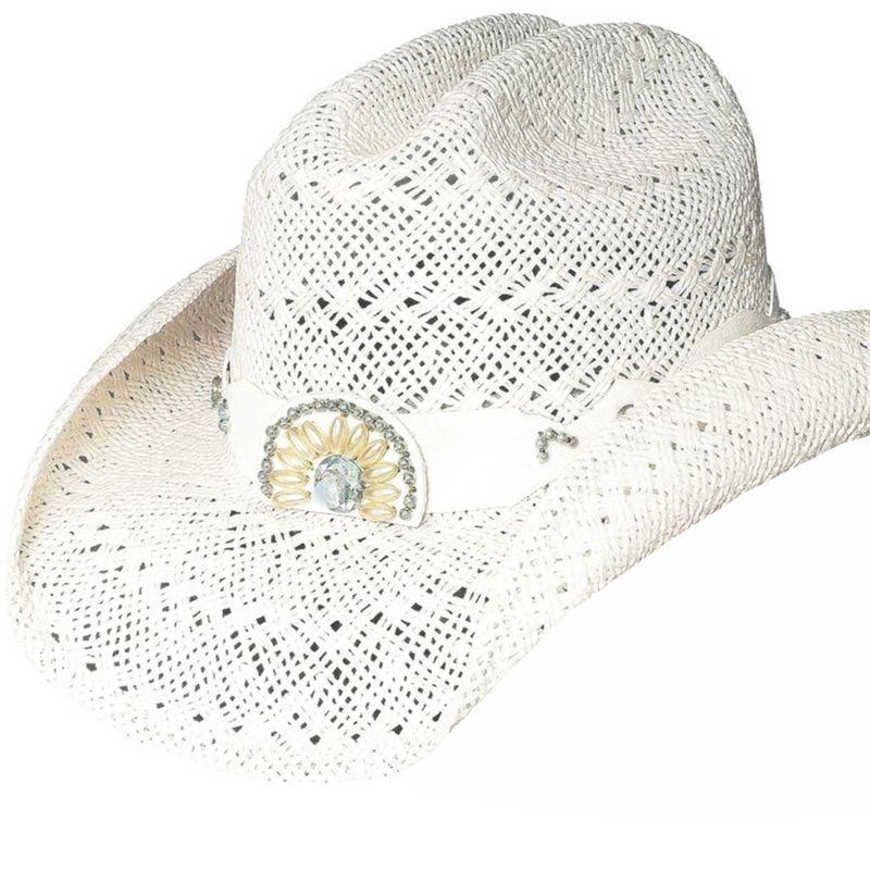 画像1: ブルハイド ウエスタン ストローハット イッチィグーニー(ホワイト)/Bullhide Western Straw Hat Itchygoonie(White)