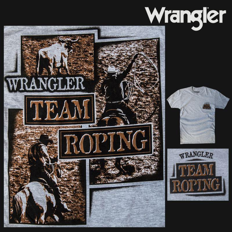 画像1: ラングラー ウエスタン Tシャツ チームローピング(半袖)/Wrangler T-shirt