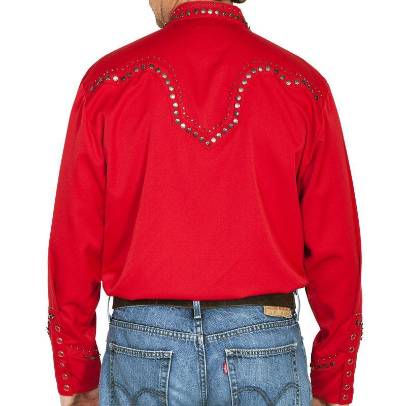 画像3: スカリー スタースタッズ ウエスタンシャツ (長袖/レッド)/Scully Long Sleeve Western Shirt(Men's)