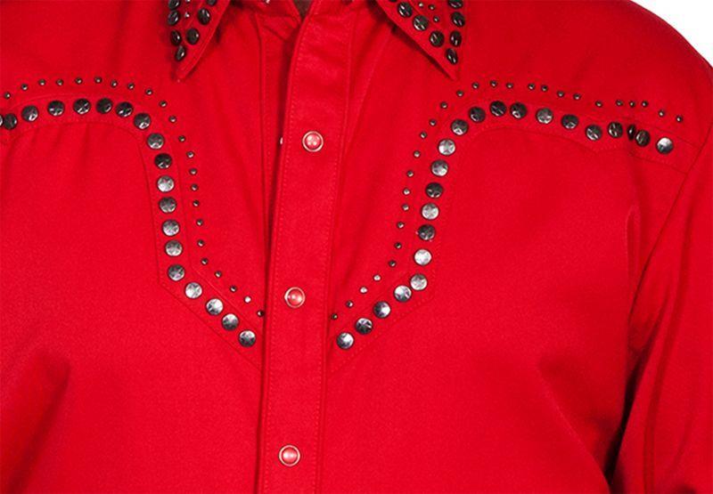 画像2: スカリー スタースタッズ ウエスタンシャツ (長袖/レッド)/Scully Long Sleeve Western Shirt(Men's)