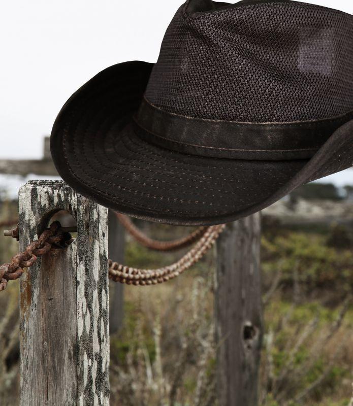 画像3: ペンドルトン メッシュ アウトバックハット(ダークブラウン)/Pendleton Weathered Cotton Mesh Outback Hat(Tobacco)