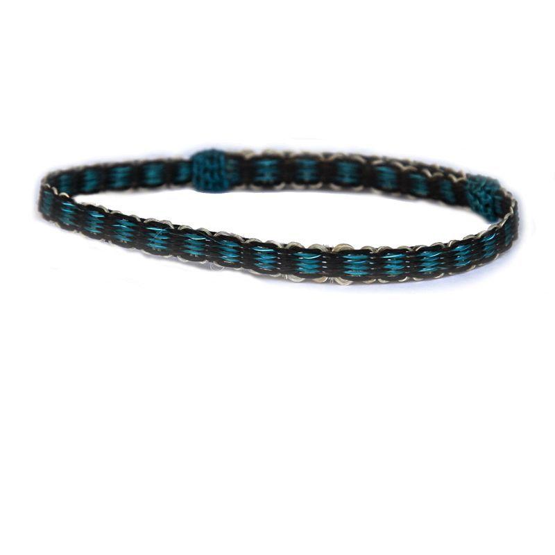 画像1: ホースヘアー ブレスレット(ターコイズ・ブラック)/Horse Hair Bracelet