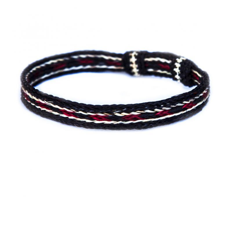 画像1: ホースヘアー ブレスレット(ブラック・レッド・ナチュラル)/Horse Hair Bracelet