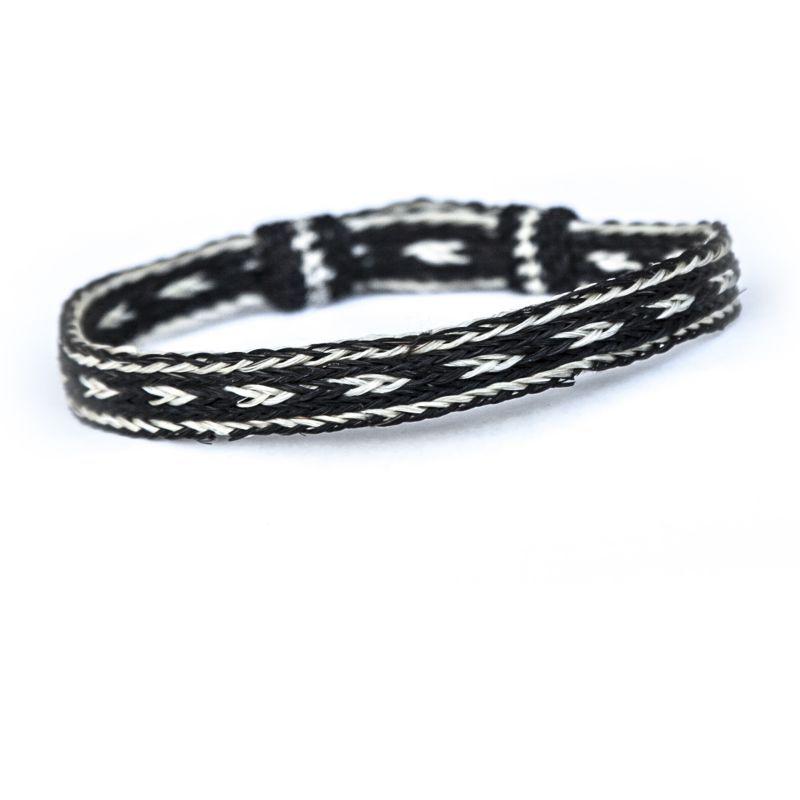 画像1: ホースヘアー ブレスレット(ブラック・ナチュラル)/Horse Hair Bracelet
