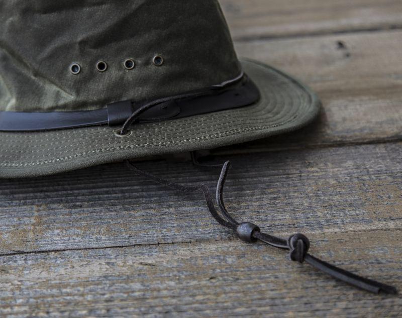 画像2: フィルソン シェルタークロス パッカーハット(あごひも付き)/Filson Shelter Cloth Packer Hat(Otter Green)