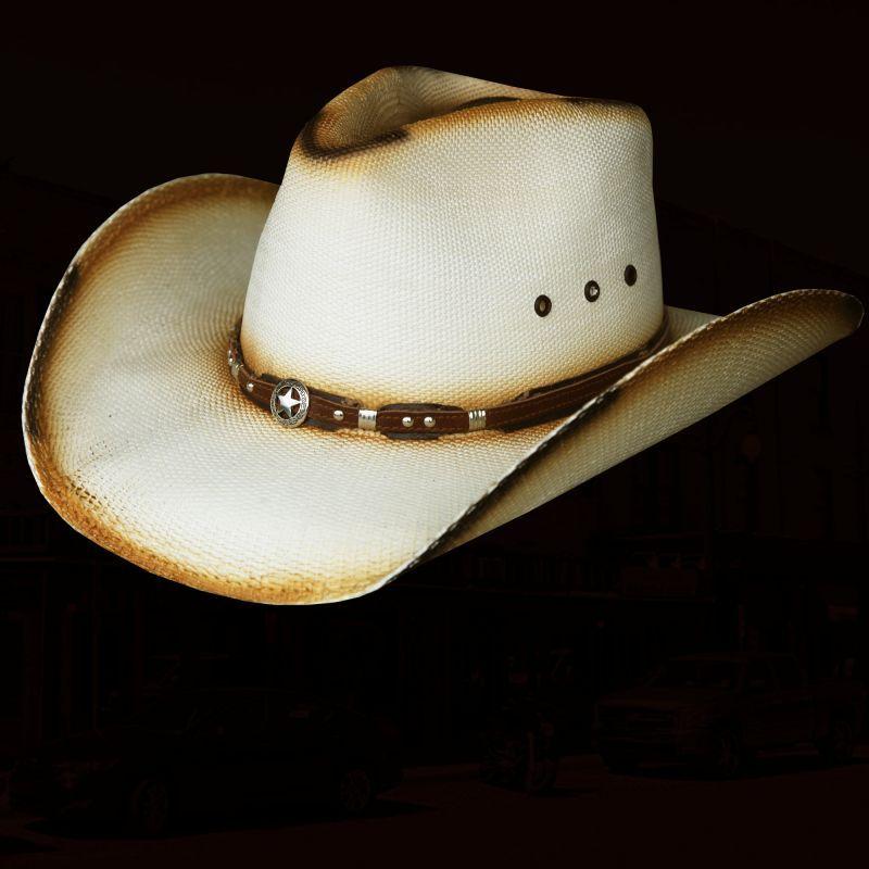 画像1: ローンスター ウエスタン ストローハット(ナチュラル)/Western Straw Hat