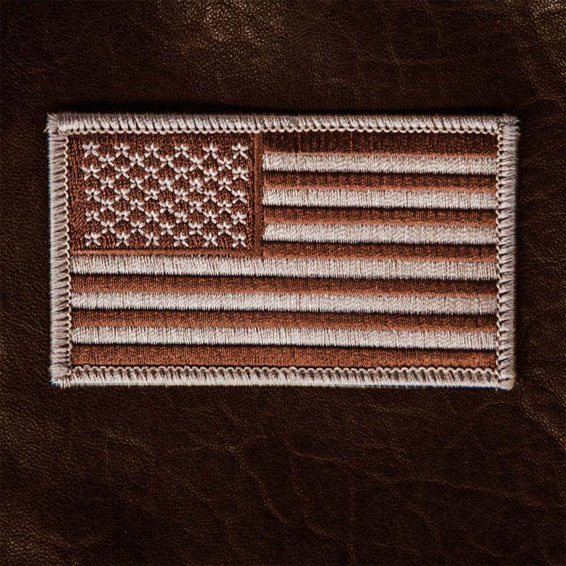 画像1: ワッペン アメリカ星条旗(アンティークブラウン)/Patch