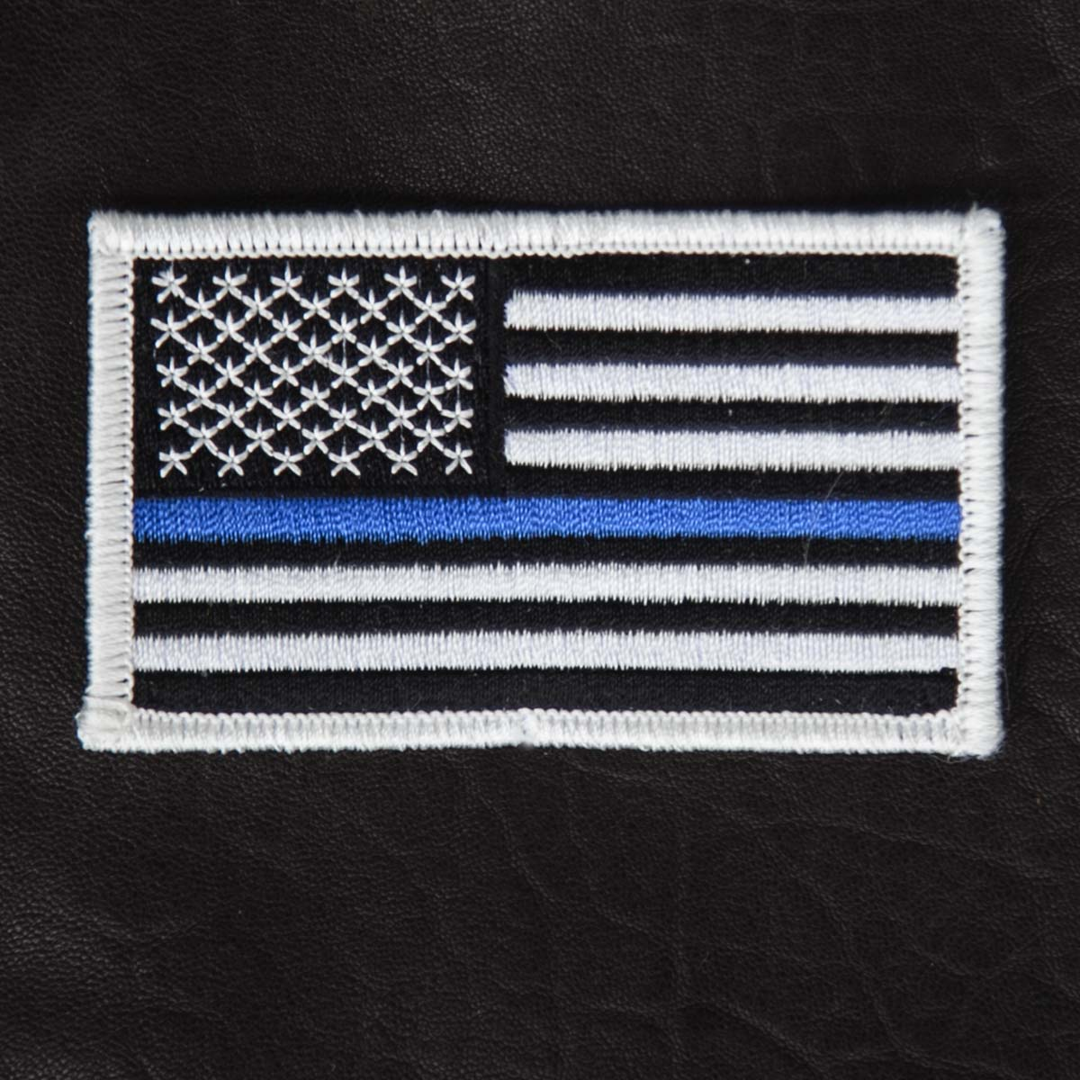 画像1: ワッペン アメリカ星条旗(ブルー・ブラック・ホワイト)/Patch