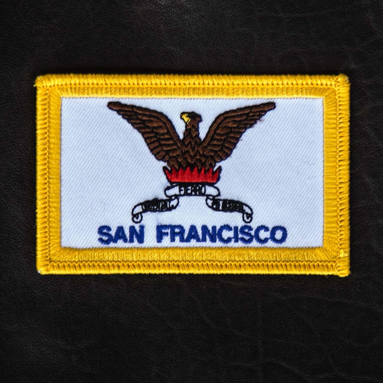 画像1: ワッペン カリフォルニア州サンフランシスコ市旗/Patch SAN FRANCISCO City Flag