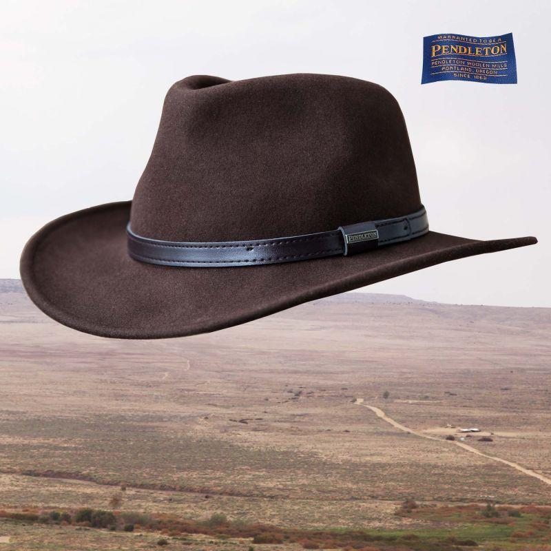 画像1: ペンドルトン アウトバック ハット(ブラウン)/Pendleton Outback Hat(Fall Brown)