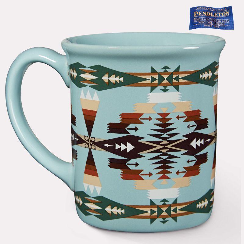 画像1: ペンドルトン コーヒーマグカップ(ツーソンアクア)/Pendleton Coffee Mug(Tucson Aqua)