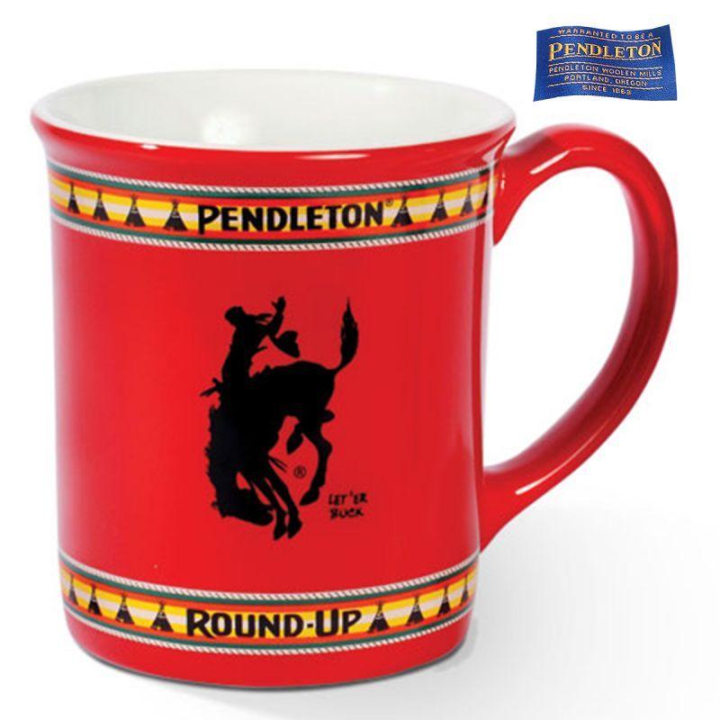 画像1: ペンドルトン コーヒーマグカップ(ラウンドアップ/レッド)/Pendleton Coffee Mug( Round-up/Red) (1)
