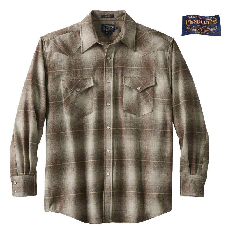 画像1: ペンドルトン ウエスタンシャツ(サンタクララタンオンブレ)/Pendleton Western Shirt