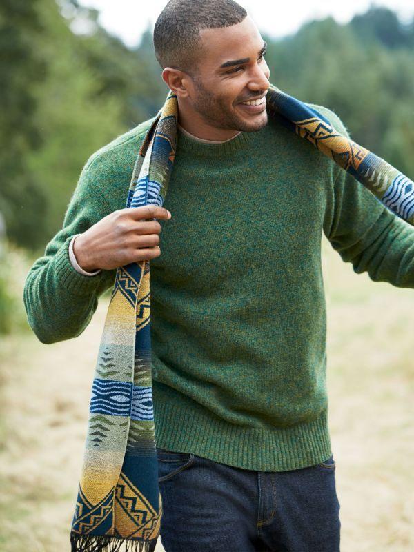 画像2: ペンドルトン シェトランド ウール セーター(スカイティール)S/Pendleton Shetland Wool Sweater Sky Teal