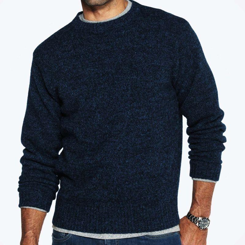 画像1: ペンドルトン シェトランド ウール セーター(インディゴヘザー)XS/Pendleton Shetland Wool Sweater Indigo Heather (1)