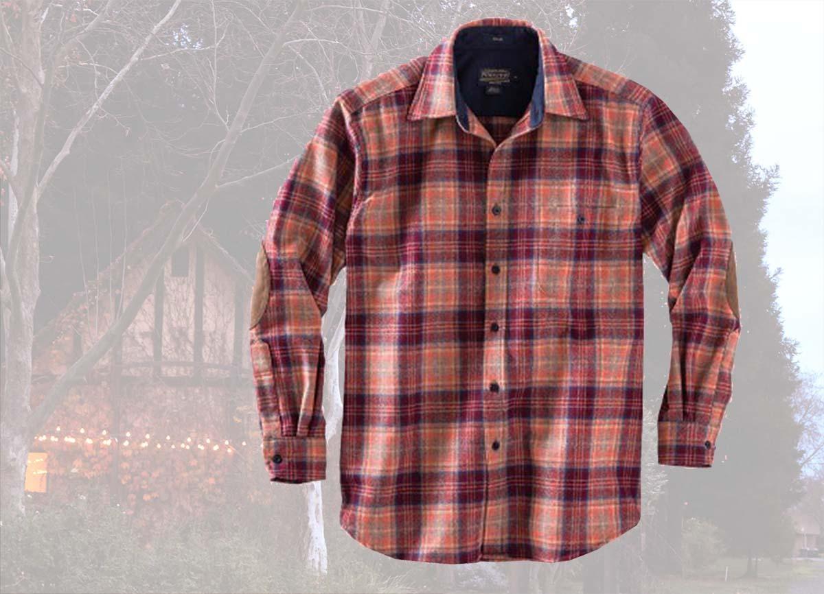 画像2: ペンドルトン ウール シャツ・エルボーパッチ トレイルシャツ サンセットプラッドS/Pendleton Elbow-patch Trail Shirt (Sunset Plaid)