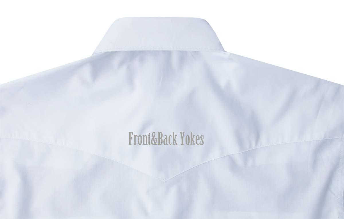 画像3: ラングラー ウエスタンシャツ ホワイト無地(長袖)/Wrangler Long Sleeve Western Shirt(White)