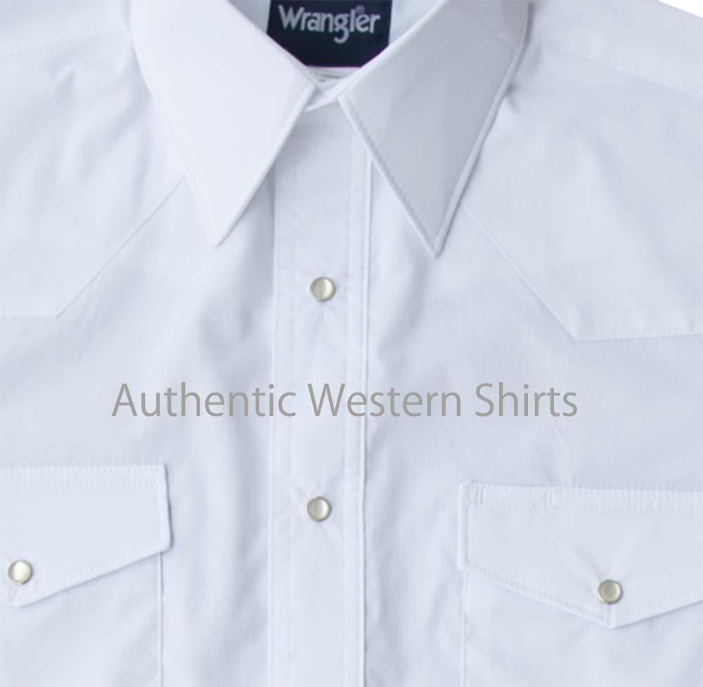 画像2: ラングラー ウエスタンシャツ ホワイト無地(長袖)/Wrangler Long Sleeve Western Shirt(White)
