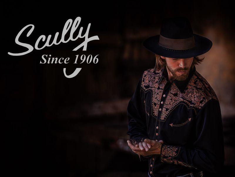 画像4: スカリー ウエスタンヨーク フローラル刺繍 ベスト(ブラック)/Scully Floral Embroidery Vest (Black)