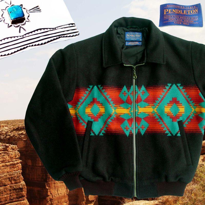 画像1: ペンドルトン ウール ウエスタン ジャケット(ブラック)M/Pendleton Wool Western Jacket(Black)