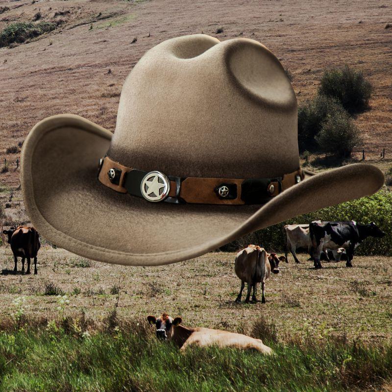 画像1: リトル カウボーイハット・サイズ調整テープ70cmつき(キッズ・サンド)/Lil Cowboy Wool Hat(Sand)