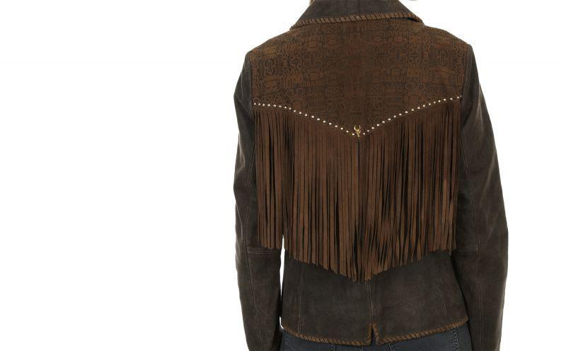 画像3: スカリー レディース ラムスエード フリンジ レザー ジャケット(ブラウン)/Scully Lamb Suede Leather Fringe Jacket(Women's)