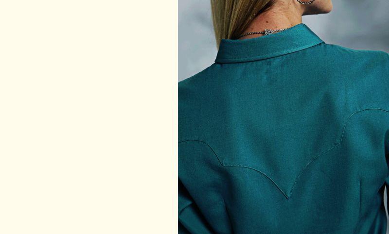 画像2: ローパー レディース ウエスタン シャツ ターコイズ(長袖)S/Roper Long Sleeve Western Shirt(Women's)