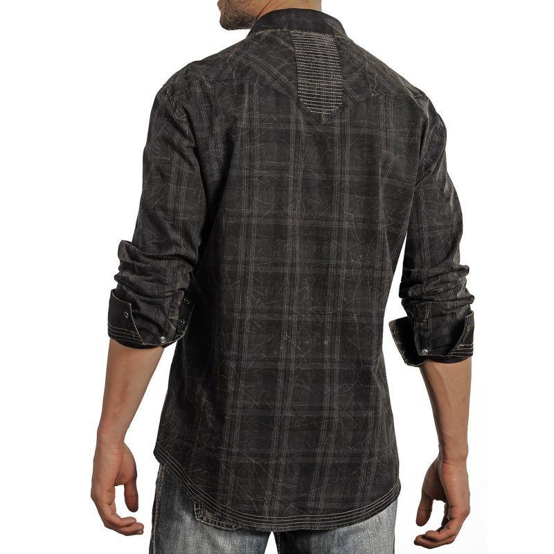 画像2: ロックンロールカウボーイ ウエスタンシャツ ブラック・ステッチ(長袖)/Panhandle Slim Long Sleeve Western Shirt