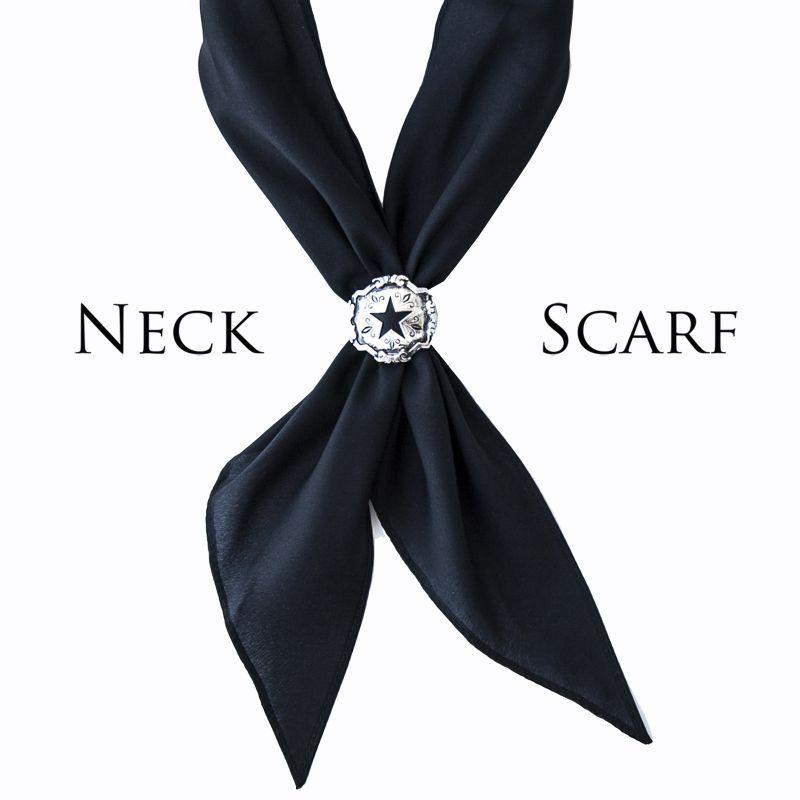 画像1: アメリカンカウボーイタイ ネックスカーフ(ブラック)/Cowboy Tie/Neck Scarf(Black)
