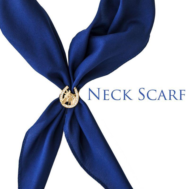 画像1: アメリカンカウボーイタイ ネックスカーフ(ブルー)/Cowboy Tie/Neck Scarf(Blue)