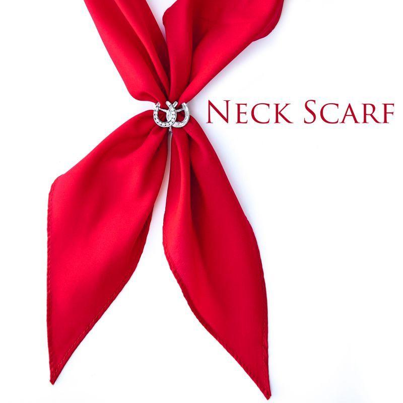 画像1: アメリカンカウボーイタイ ネックスカーフ(レッド)/Cowboy Tie/Neck Scarf(Red) (1)