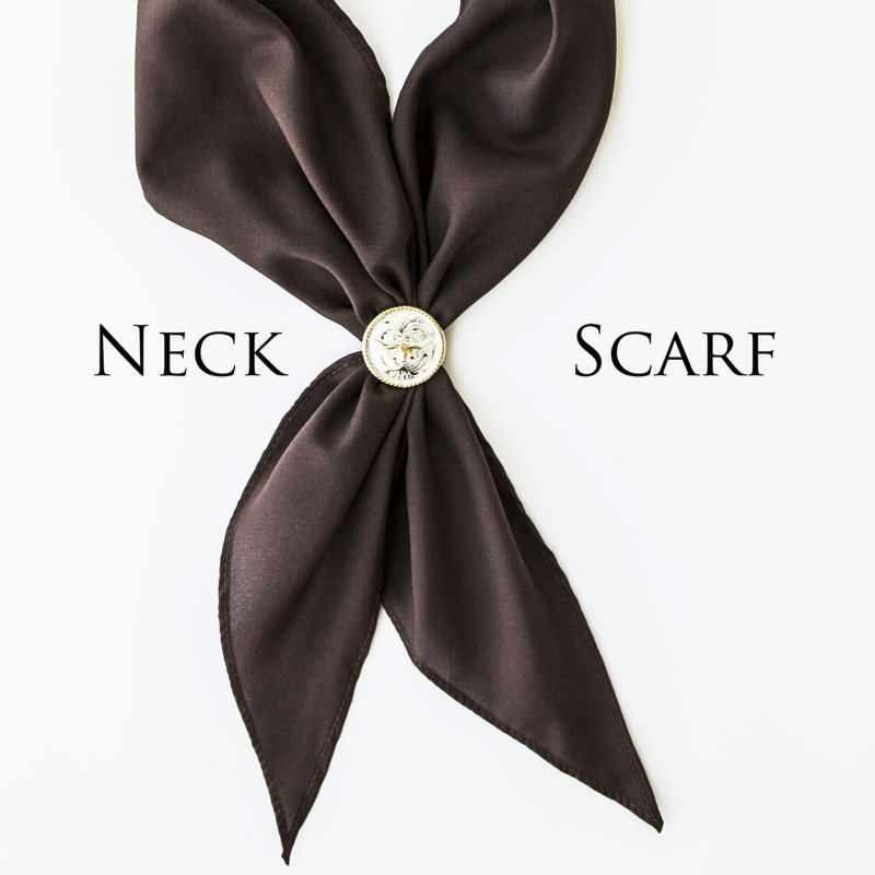 画像1: アメリカンカウボーイタイ ネックスカーフ(ブラウン)/Cowboy Tie/Neck Scarf(Brown)