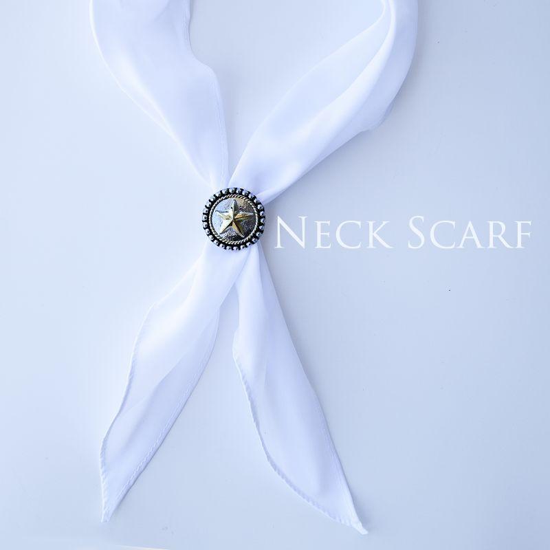 画像1: アメリカンカウボーイタイ ネックスカーフ(ホワイト)/Cowboy Tie/Neck Scarf(White)