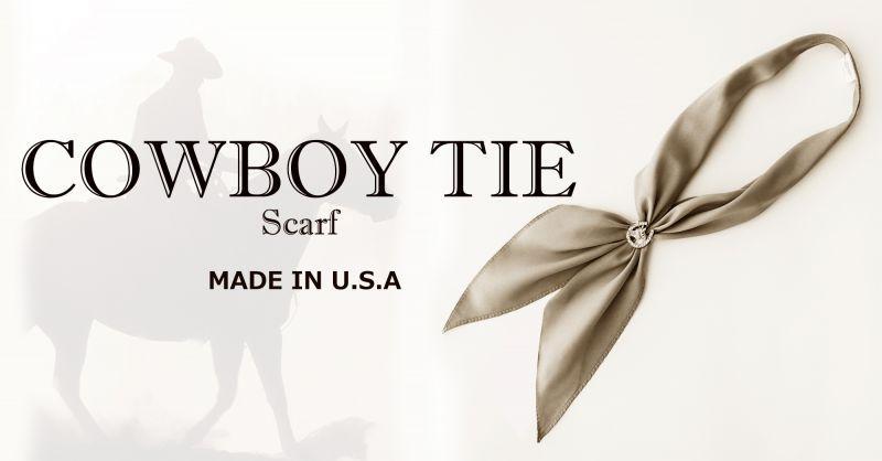 画像2: アメリカンカウボーイタイ ネックスカーフ(グレー)/Cowboy Tie/Neck Scarf(Gray)