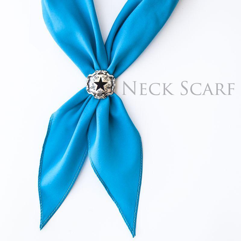 画像1: アメリカンカウボーイタイ ネックスカーフ(ターコイズ)/Cowboy Tie/Neck Scarf(Turquoise)