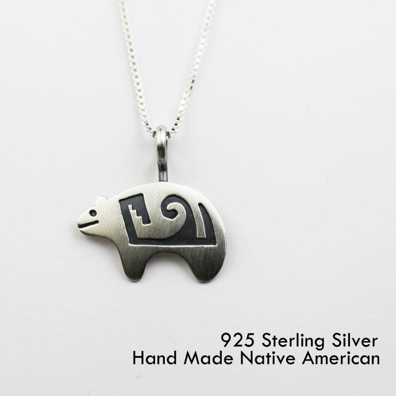 画像1: スターリングシルバー ネックレス ベアー/Sterling Silver Necklace