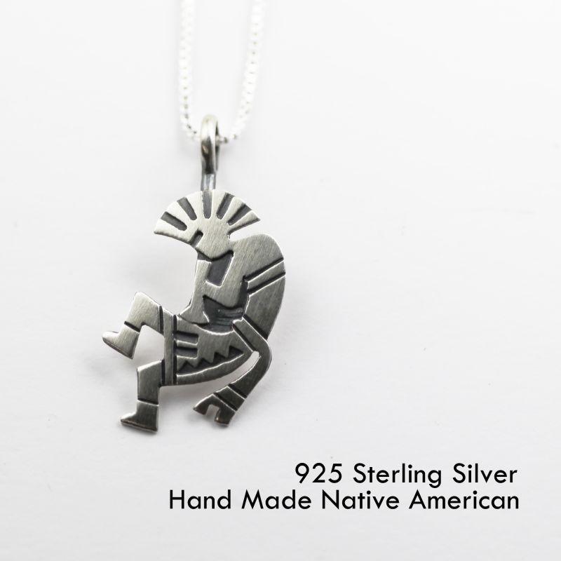 画像1: スターリングシルバー ネックレス ココペリ/Sterling Silver Necklace
