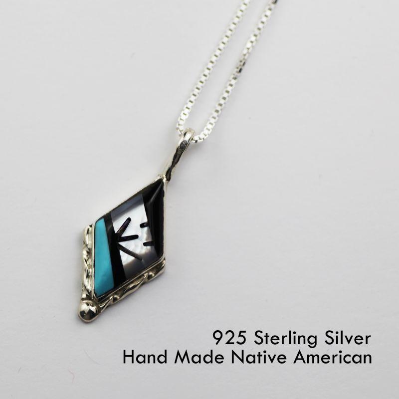 画像1: ズニ スターリングシルバー ネックレス/Sterling Silver Necklace