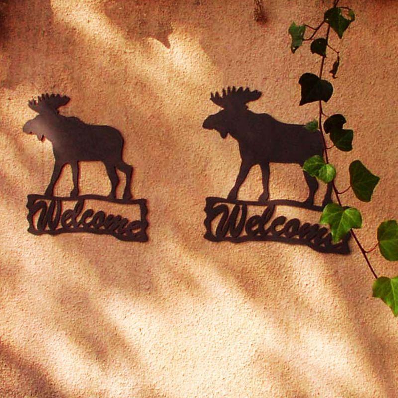 画像1: ムース ウェルカム サイン/Moose Welcome Sign (1)