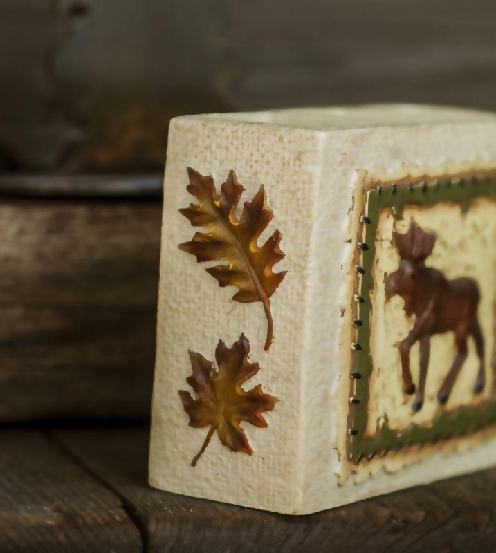 画像3: ハンドペイント ロッジ 歯ブラシホルダー(ムース&リーフ)/Logde Toothbrush Holder(Moose&Leaf)