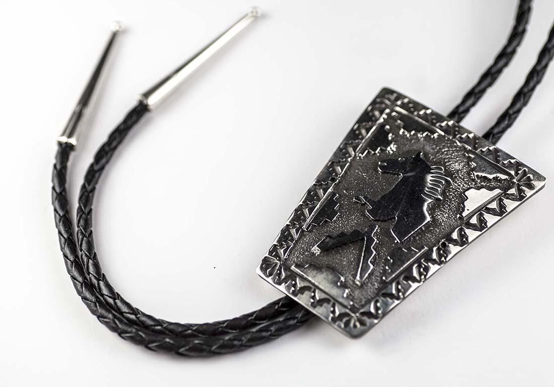 画像3: ネイティブアメリカン ナバホ族 ハンドメイド スターリングシルバー ボロタイ(ホース)/Navajo Sterling Silver Bolo Tie(Horse)