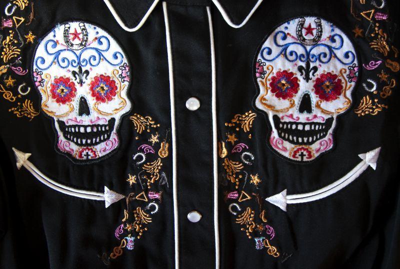 画像2: スカリー 刺繍 ウエスタン シャツ(長袖/シュガー スカル)XS/Scully Long Sleeve Western Shirt(Women's)