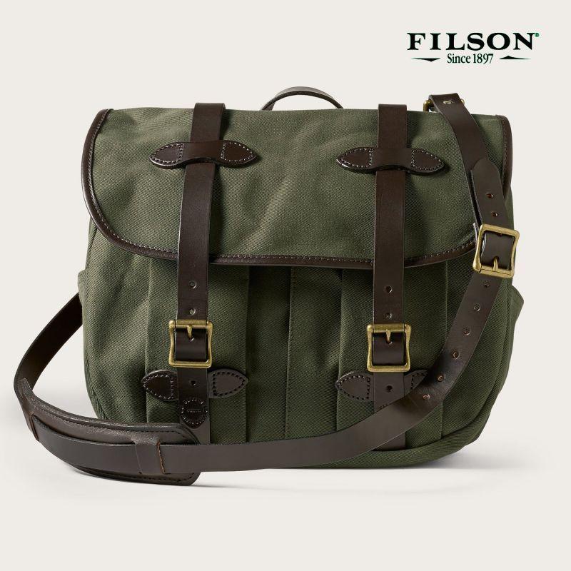 画像1: フィルソン ラージショルダーバッグ(オッターグリーン)/Filson Medium Field Bag(Otter Green)